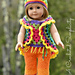 "18"" Doll Boho Butterfly 5 piece Set pattern"