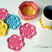 Flower Drink Coasters & Caddy pattern