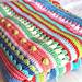 Mixed Stitch Stripey Blanket  pattern