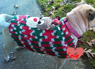 Dog Christmas Sweater.Dog My Ugly Christmas Sweater Pattern By Jennifer Macewen