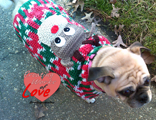 Ugly Dog Christmas Sweaters.Dog My Ugly Christmas Sweater Pattern By Jennifer Macewen