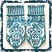 Calaveras mittens pattern