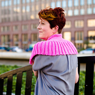 Back view of Shawlette in Nebula