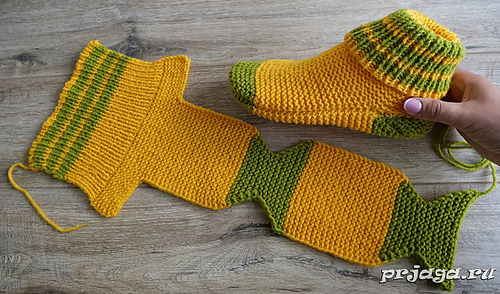 How To Knit Socks With Two Straight Needles For Beginners