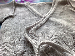 Cable and Lace Wrap Cardigan