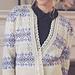 Delft - Fair Isle & Lace cardigan pattern