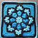 JulieAnny's Stained Glass Afghan Square pattern