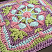 English Garden Afghan Square pattern