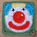 'Jolly Clown' Afghan Square pattern