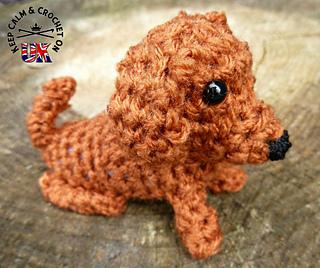 1 Inch Miniature Dachshund Sausage Dog Amigurumi - Tiny Crochet ... | 268x320