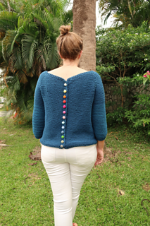shown with Bonbon crochet buttons (not included in this purchase)