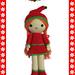 Christmas Girl - Amigurumi pattern