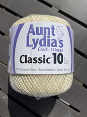 151-226 Aunt Lydia/'s Classic Crochet Thread Size 10 Value-Natural