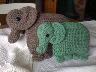 Josefina and Jeffery Elephant Pillow PDF Crochet Pattern | 240x320