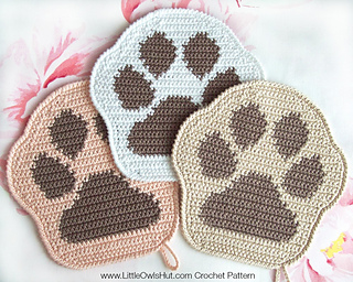Amazon.com: Hand Crochet - Set of Two - Cat Potholders - Double ... | 256x320