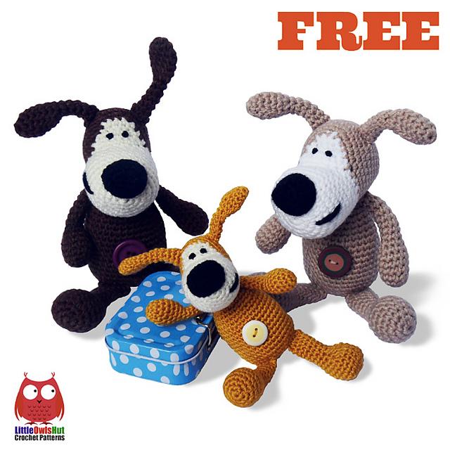 Amigurumi Sweet Dog Free Pattern | Crochet dog patterns, Crochet ... | 640x640