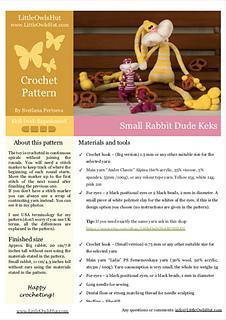 137 Knitting Pattern - Rabbit Dude Keks - Amigurumi PDF file by ... | 320x226