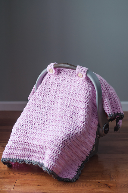 Ravelry Thick And Quick Car Seat Canopy Pattern By Skinny Kitty