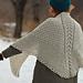 Snowflakes falling shawl pattern