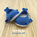 Whale Baby Booties pattern