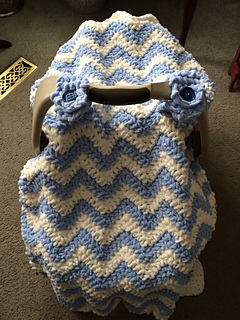 Outstanding Chunky Chevron Car Seat Canopy Cover Pattern By Crochet By Jennifer Creativecarmelina Interior Chair Design Creativecarmelinacom