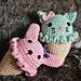 Bunny and Kitty Ice Cream Cone Amigurumi pattern