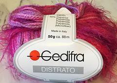 Gedifra DISTRATO Novelty Self Striping Cotton Eyelash Yarn col.3518 Pastel Multi