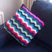 Stripy Wave Cushion pattern