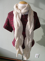 Double Faced Cable Scarf