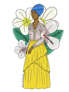 Illustration of an Héroïne : Marie Claire Heureuse Bonheur.