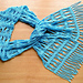 Sky blue lace scarf pattern