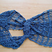 Jeans blue lace scarf pattern