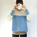 Baby blue sweater pattern