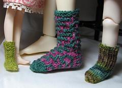 Top-down Socks Worn 1