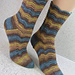 Giles Wavy Socks pattern