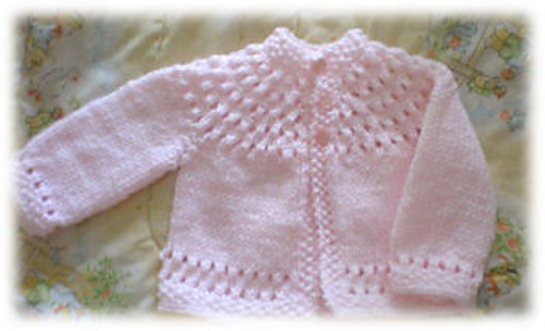 Ravelry: Pretty Baby Sweater pattern by Knitwits Heaven