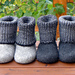 Felt Boots / Slippers with Turtleneck pattern