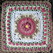 """Fountain of Roses 12"""" Square pattern"""