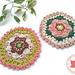 Mandala coaster pattern