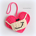 Heart with a Facemask pattern