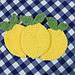 Lemon Farmhouse Dishcloth pattern