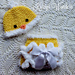 Fluffy Bottom Diaper Cover & Chickie Hat pattern