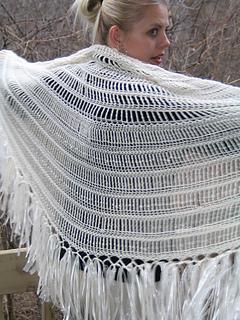 Alpaca Angel Shawl Pattern