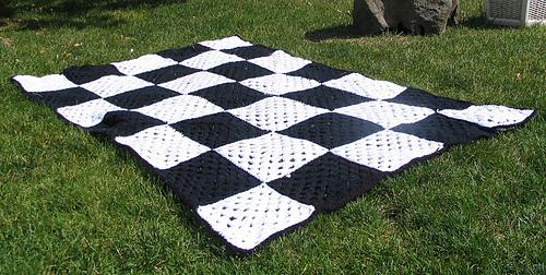 Checkered Racing Flag Afghan