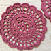 Floral Rose Doily Coaster pattern