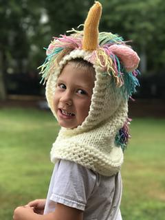 Ravelry: Hooded Unicorn Hat pattern by Krystle's Krazy Knits