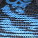 Skull Illusion Scarf pattern