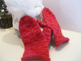 red malabrigo mittens