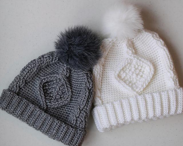 Deserai Diamond Cable Crochet Hat pattern by Lakeside Loops