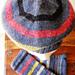 Hat and Wrist Warmers Stripy pattern
